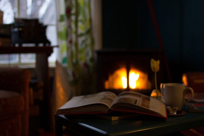 Freestanding electric fake fireplace heaters are safe and cozy.