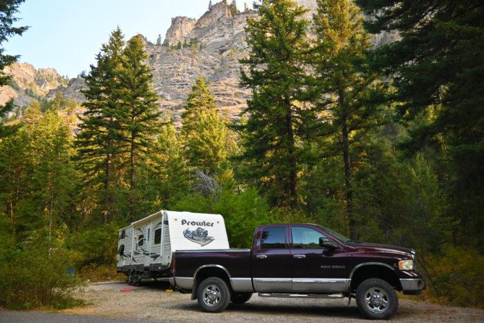Campsite 5 at Blodgett Campground near Hamilton, Montana.