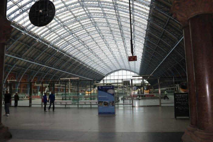 Interior da estação de St Pancras