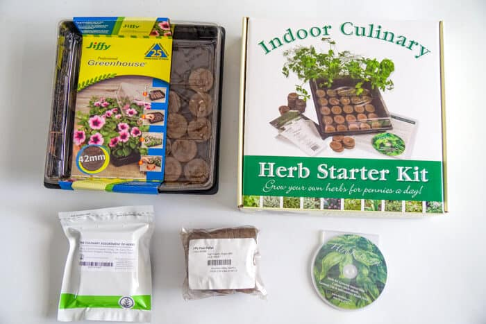 Indoor Culinary Herb Starter Kit from True Leaf Market. Colorful DIY Indoor herb garden. Looking for a colorful diy herb garden then look no further than this herb garden kit that we're sprucing up.