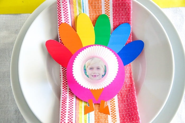 Printable Turkey Craft Thanksgiving Photo Craft Made With Happy