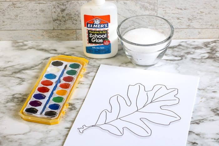 supplies for fall kids craft