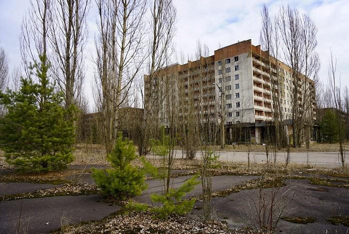 Abandoned building Pripyat Chernobyl Ukraine