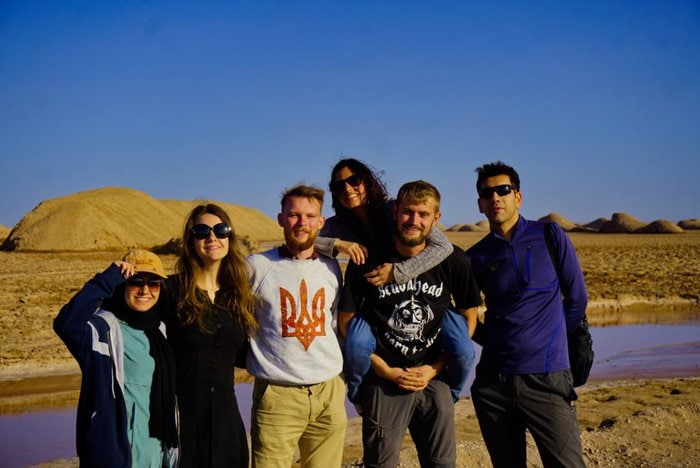 Lut desert with new friends, Iran