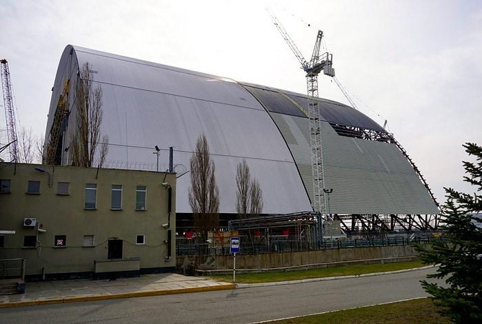 New sarcophagus reactor 4 Chernobyl Ukraine