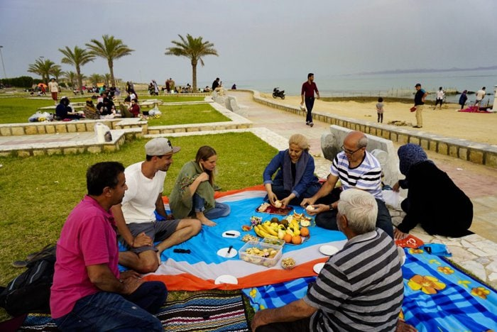 Picnic by the beach, Nature day, Qeshm, Iran