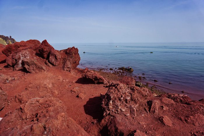 Red beach, Hormuz, Iran