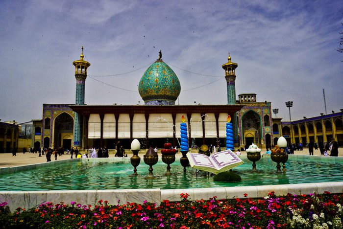Shah Cheragh shrine courtyard, Shiraz, Iran – Experiencing the Globe