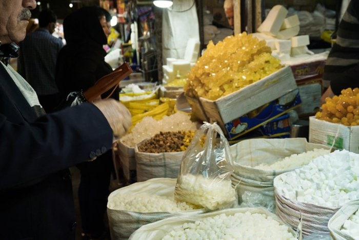 Sugar, Grand Bazaar, Tabriz, East Azerbaijan, Iran – Experiencing the Globe