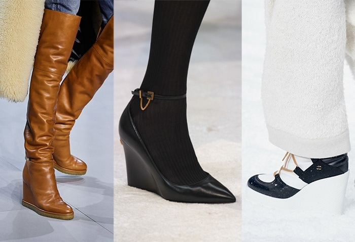 Winter wedge heels for fall 2019 | 40plusstyle.com