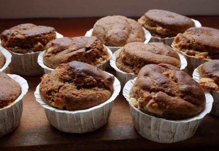 Muffins au chocolat blanc et au caramel de beurre salé