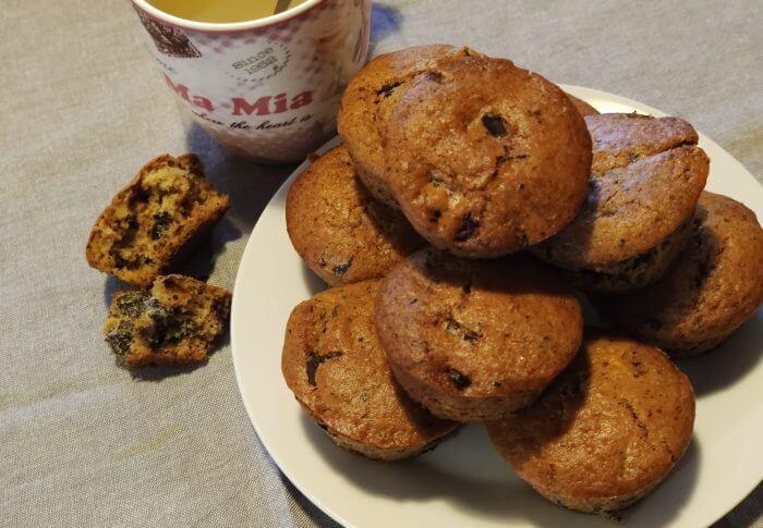 Muffins au chocolat et aux cranberries