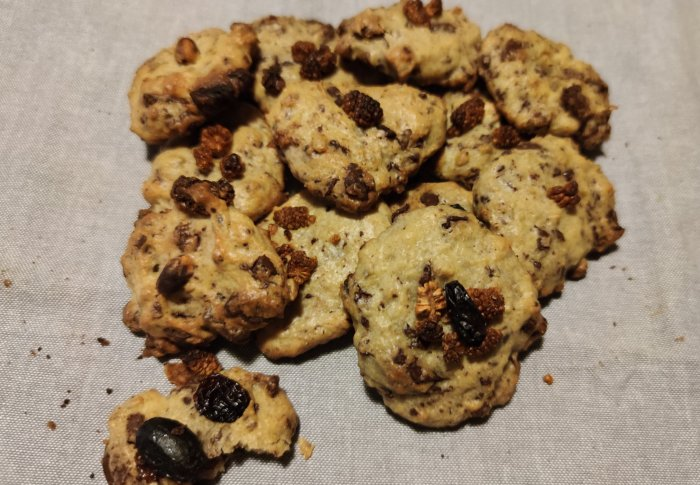 Cookies aux fruits secs et chocolat