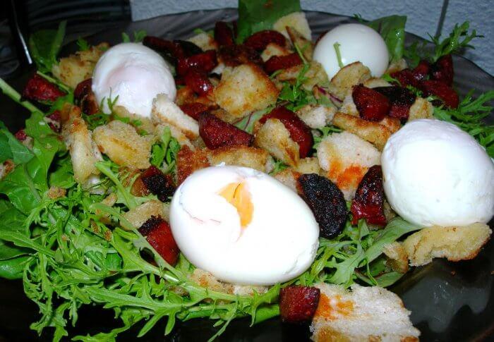 Salade au chorizo
