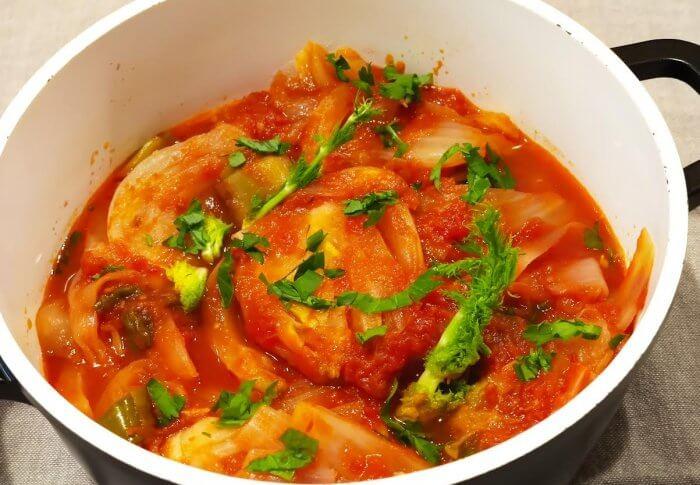 Fenouils en sauce tomate