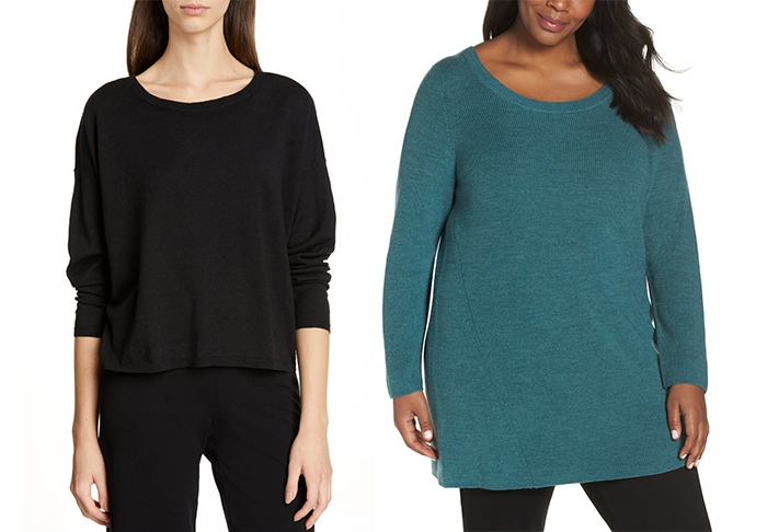 Eileen Fisher sweaters | 40plusstyle.com