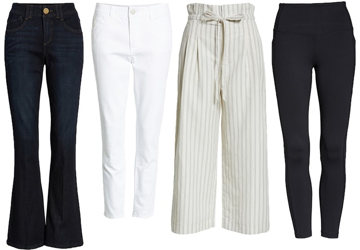 Pants and jeans for the rectangle shape body | 40plusstyle.com