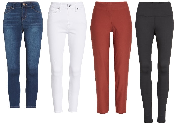 Bottoms to wear with tunics and short dresses | 40plusstyle.com