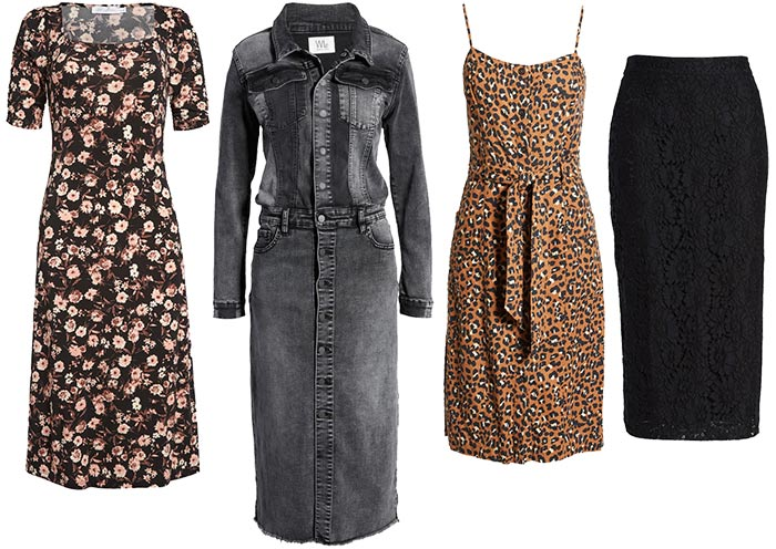 dresses and skirts for the rock style personality | 40plusstyle.com