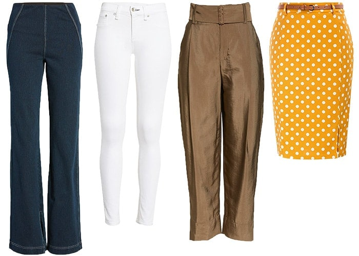 Pants, jeans and skirts for the hourglass body shape | 40plusstyle.com