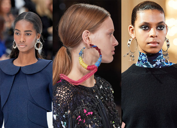 Embellished hoops in the fall accessory trends | 40plusstyle.com