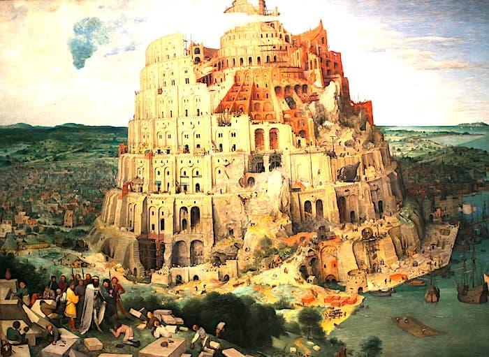 ブリューゲルのバベルの塔の画像