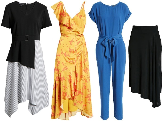 Dresses, skirt and jumpsuits for rectangle body shape | 40plusstyle.com