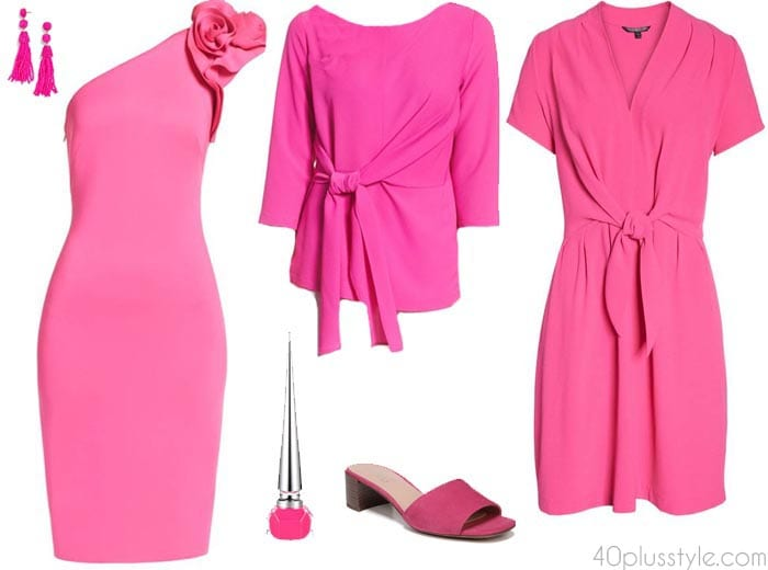 Bold pink pieces | 40plusstyle.com