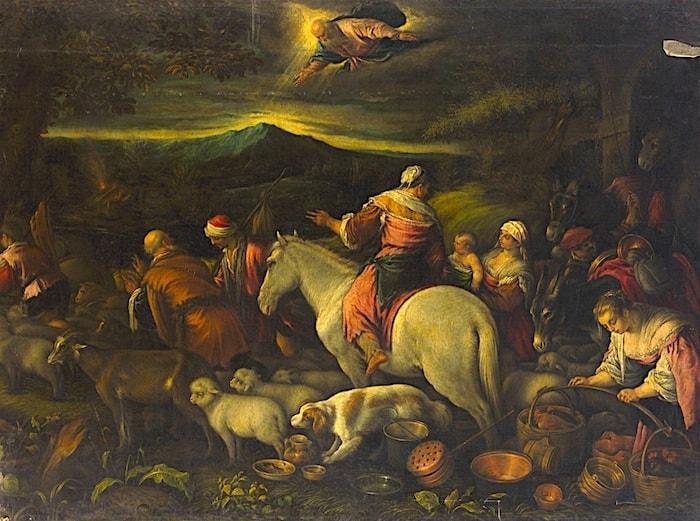 バッサーノの「アブラハムの旅立ち」の画像