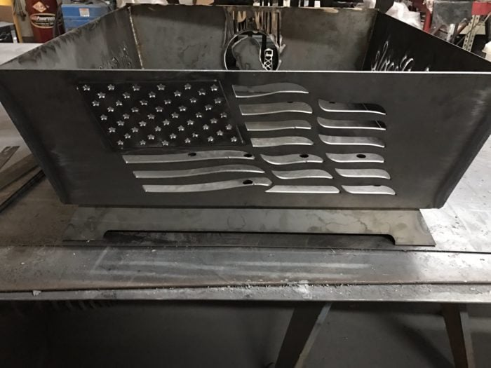 American Flag Fire Pit