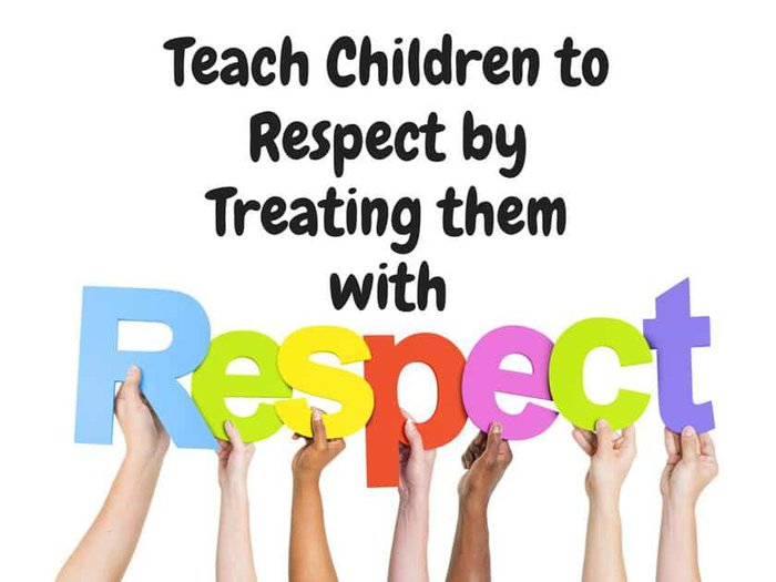 Teach Children to Respect by Treating