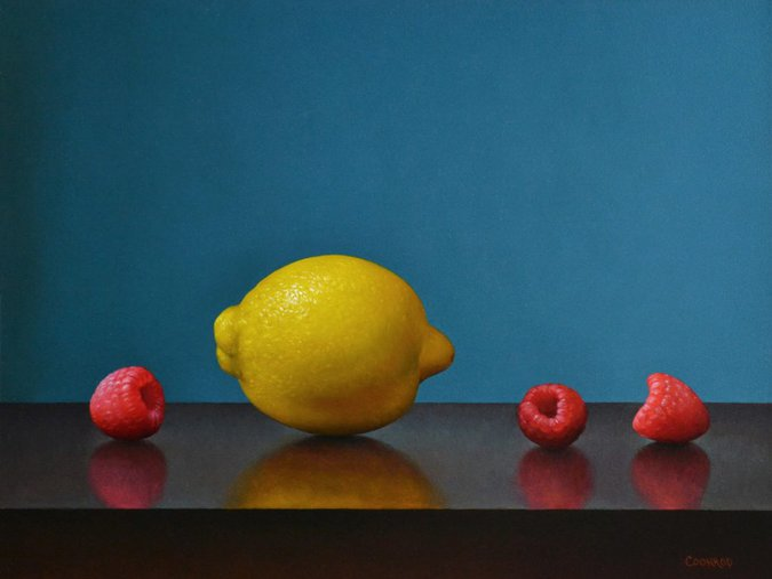 "Lemon and 3 Raspberries11"" x 14""sold"