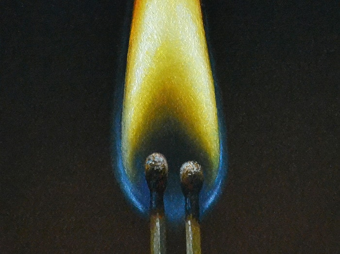 """Pair of Matches4"""" x 4""""sold"""
