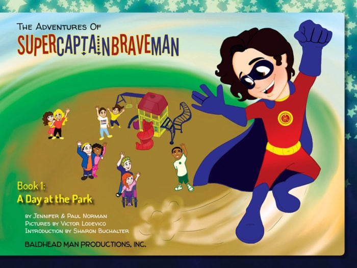 The Adventures of SuperCaptainBraveMan, Book 1 Cover