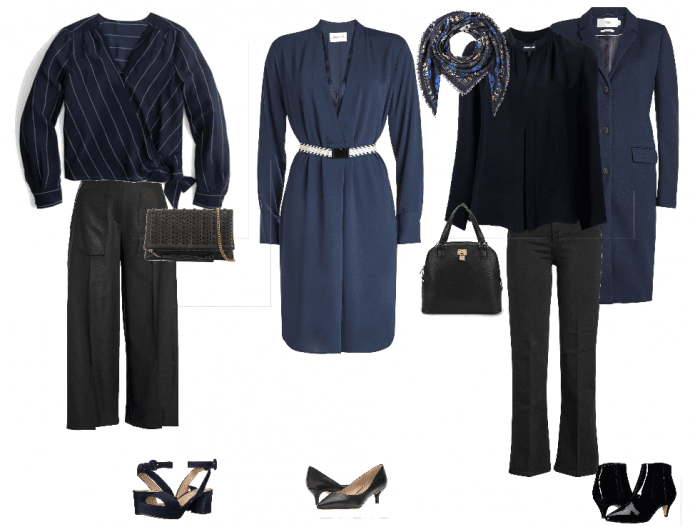 Wearing navy with black | 40plusstyle.com