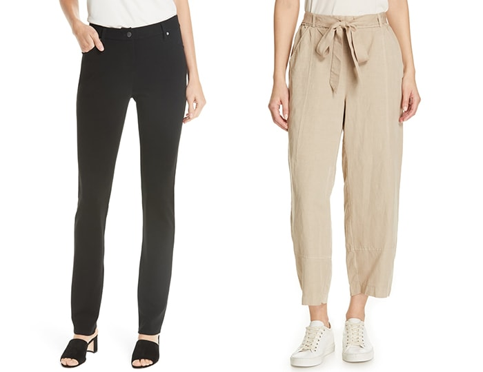 Eileen Fisher pants | 40plusstyle.com