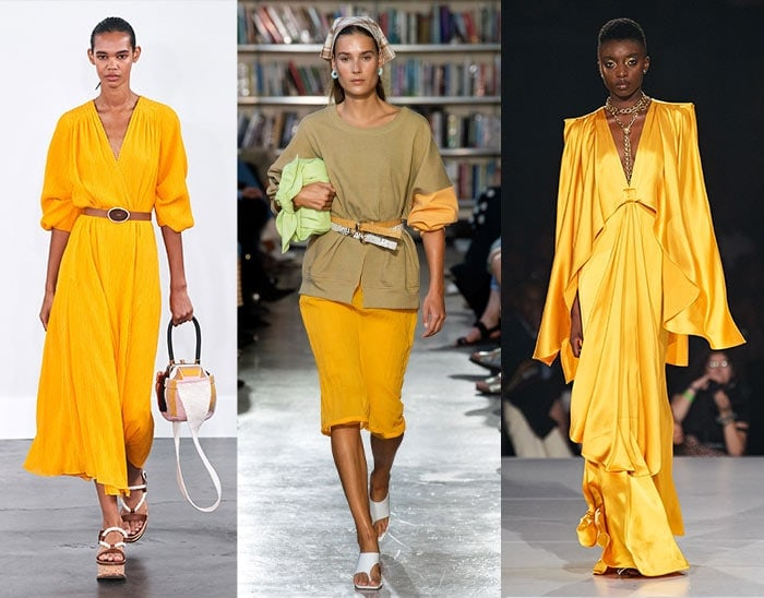 saffron yellow is among the summer color fashion trends | 40plusstyle.com