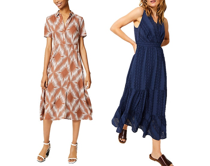 Marks and Spencer casual dresses | 40plusstyle.com