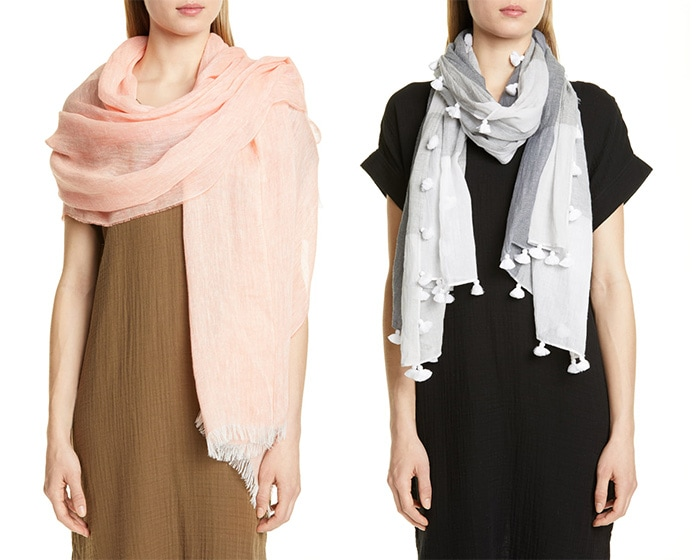 Eileen Fisher scarves | 40plusstyle.com