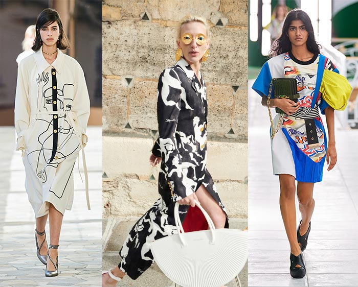 Graphic prints from the spring fashion shows | 40plusstyle.com