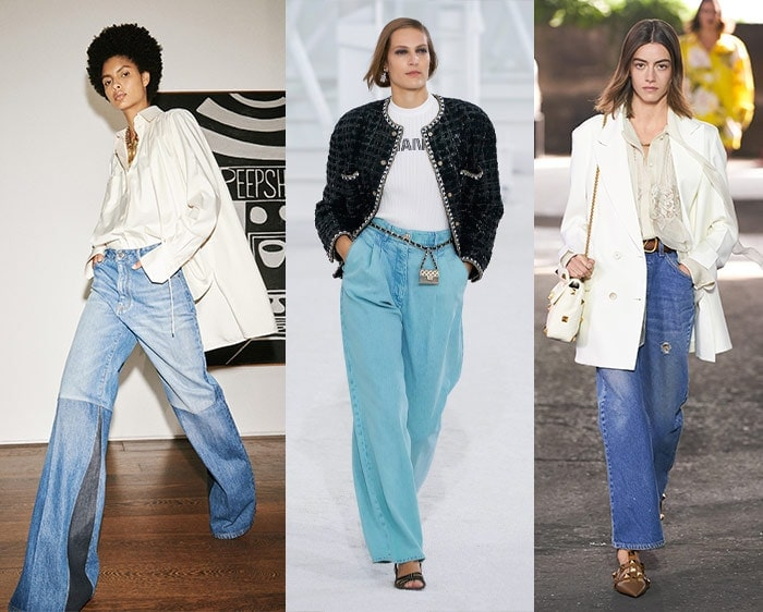 Wide jeans in the 2021 fashion trends | 40plusstyle.com
