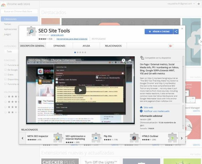 Extensiones SEO para Chrome OPen SEO Tools