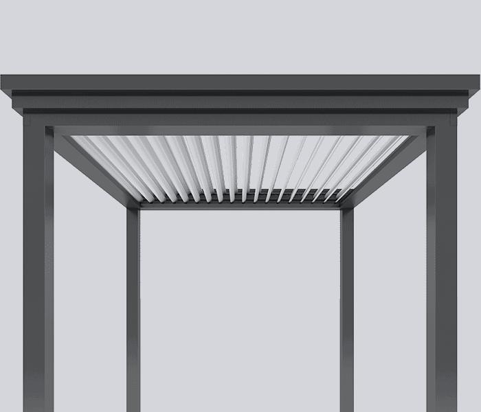 Louvered Pergola Design, Commercial Grade