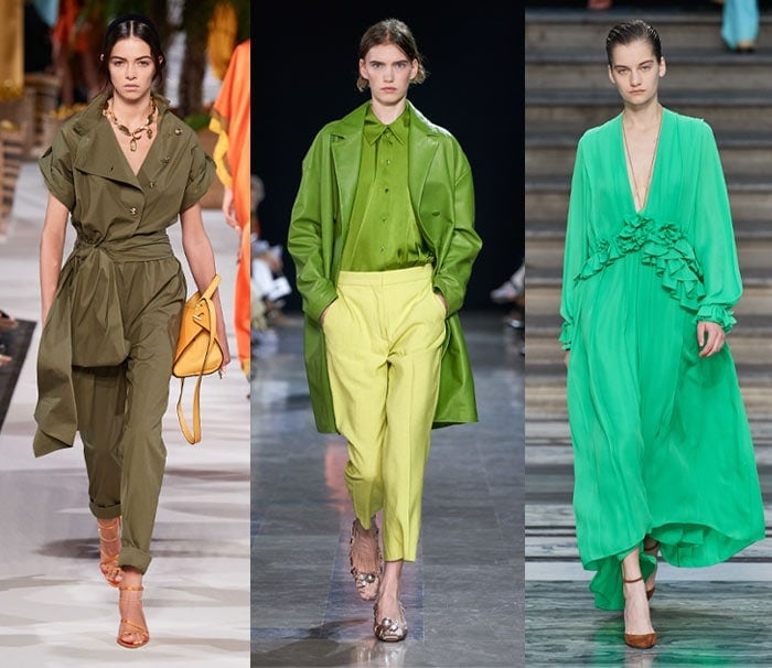 Designer green outfits - Spring 2020 | 40plusstyle.com