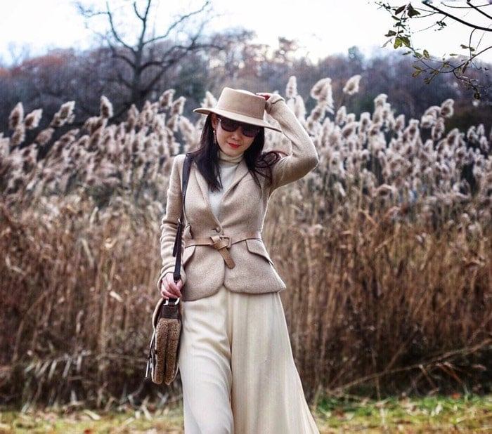 Wearing a boater hat for women over 40 | 40plusstyle.com