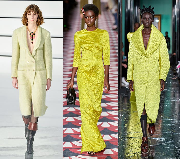 green-yellow is one of the key fall 2020 color trends | 40plusstyle.com