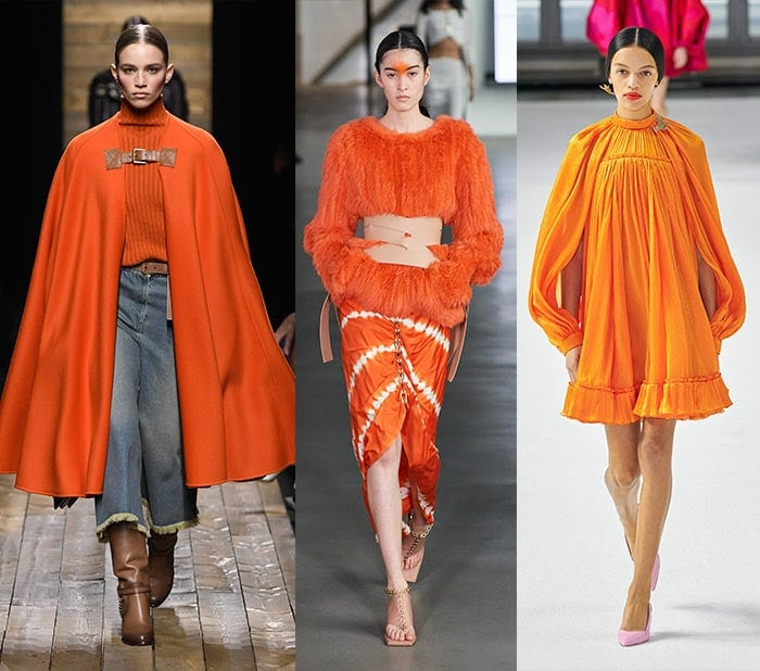 Fall clothing colors - wearing orange for fall | 40plusstyle.com