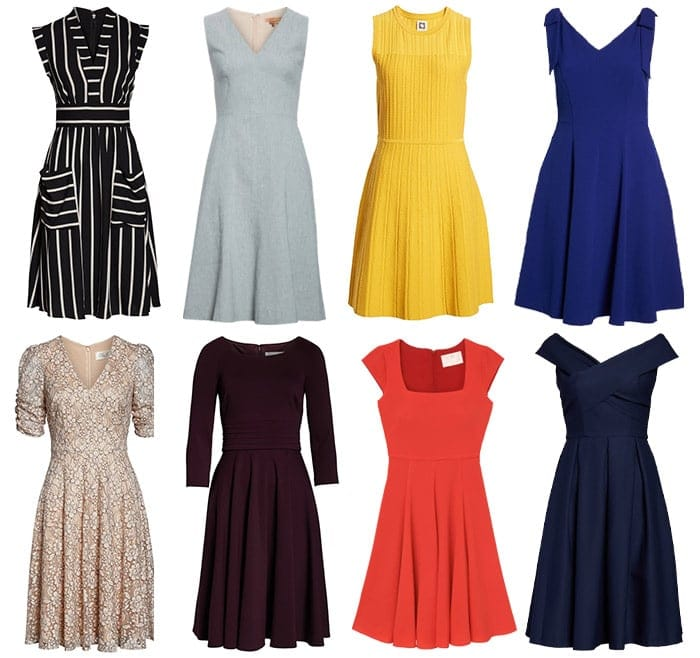 dresses for the pear body shape | 40plusstyle.com