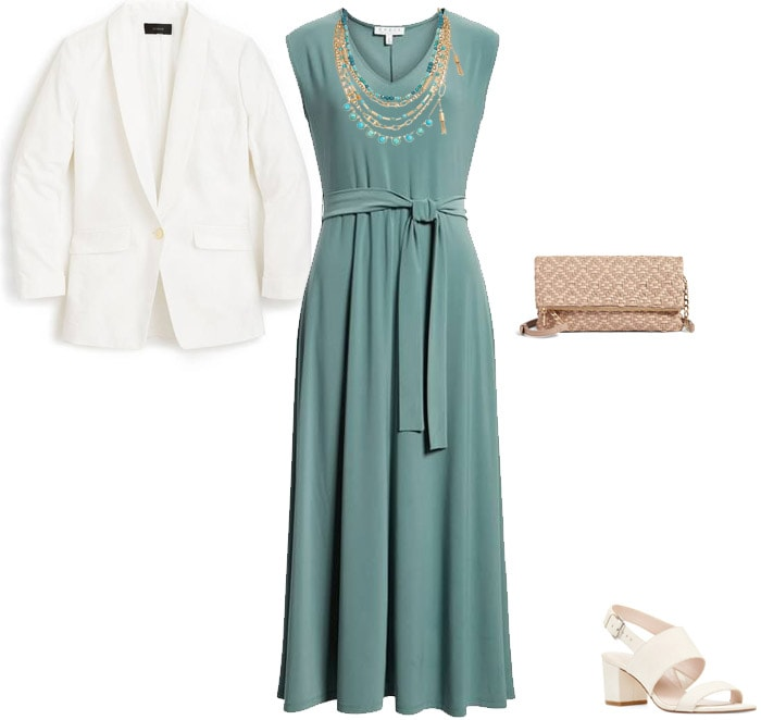 Maxi dress outfit to wear for Mother's Day brunch | 40plusstyle.com