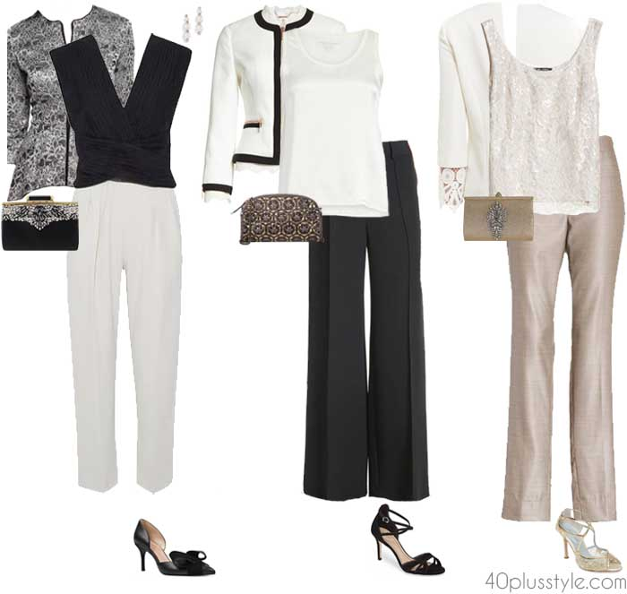 Pants set for a wedding attire | 40plusstyle.com